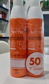 AVENE PACK SPF 50+ SPRAY MUY ALTA PROTECCION 200ml